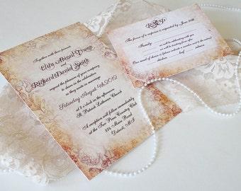 Wedding Invitations - Spring Vintage Wedding Invitation - Vintage Wedding Invitation {Cleveland design}