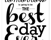 The *Original* Best Day Ever Wedding Digital Download! / TOMORROW