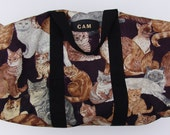Vintage Cats Everywhere Over Night Weekender Bag