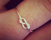 Dainty Infinity Knot Ring- Adjustable- SALE