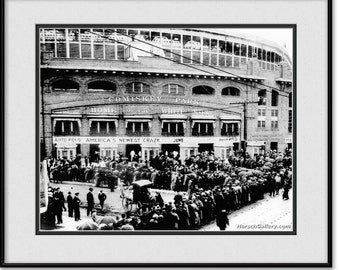 Vintage Comiskey Park Art Photograph Black and White - Chicago White Sox Print, Picture, Photo
