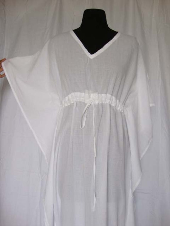 Bridal kaftan robe long white kaftan maxi dress by weddingsong for White kaftan wedding dress
