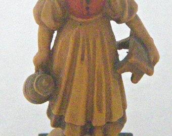 """ANRI 2 3/4"""" Handcarved Wooden Milk Maiden Figurine by Ulrich Bernardi"""