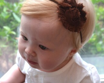 Thanksgiving Fall Brown Baby Headbands, Toddler Headband, Newborn Headband, Thanksgiving Photo Prop