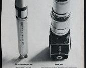 Vintage Ad Hasselblad Camera Rocket 1965 Popular Photography Magazine Medium Format