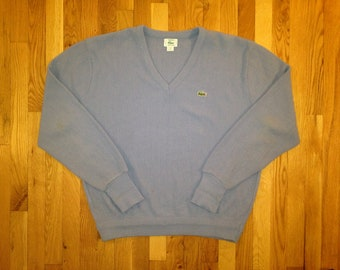 vintage lacoste cardigan size XL