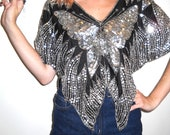 Silver Sequined Butterfly Blouse