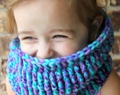 Crocheted Cowl Scarf Neck Warmer for Girl