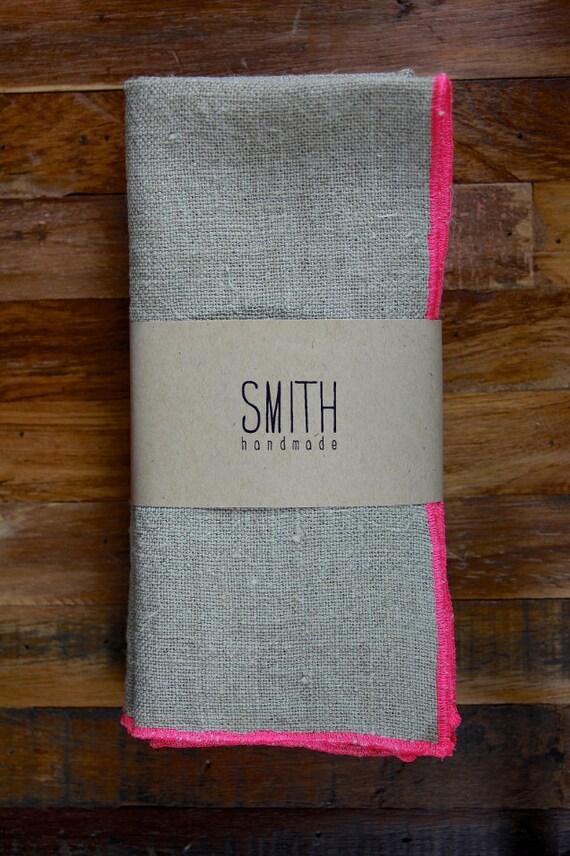 Set of 4 Linen napkins - NEON