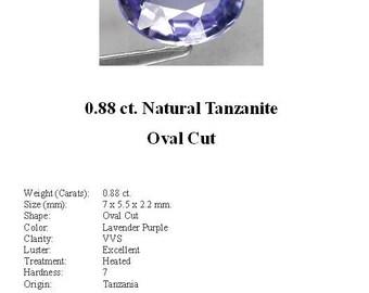 TANZANITE - Absolutely Beautiful 0.88 Carats of Medium Blue Tanzanite in a Gorgeous Oval Cut...