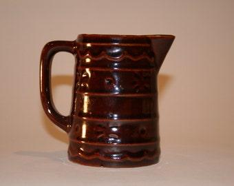 Vintage USA Pottery Cream Pitcher
