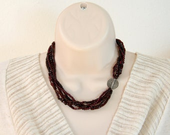 5-strand Garnet Necklace