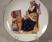 "1984 Memories Decorative Plate, Norman Rockwell, 6-1/2"""