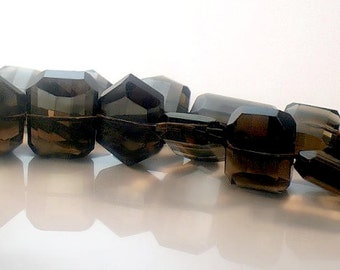 Smoky Quartz Beads Large Faceted Focal AA Plus Quality 20x15mm Gemstone For Handmade Jewelry Design
