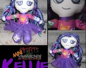 Pink and Purple skulls tutu Cute Doll Mini Misfit Kellie