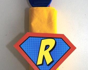 Superhero Symbol Napkin Ring or Cup Stickers