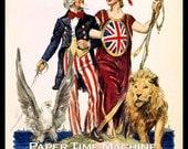 Britain's Day Britannia & Uncle Sam WWI Vintage Art Print - Digitally Remastered Fine Art Print / Poster