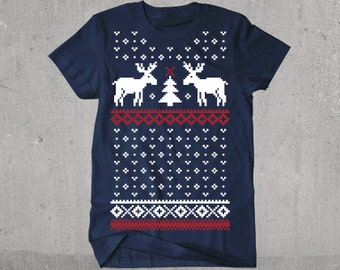 Moose Ugly Christmas Sweater T-shirt