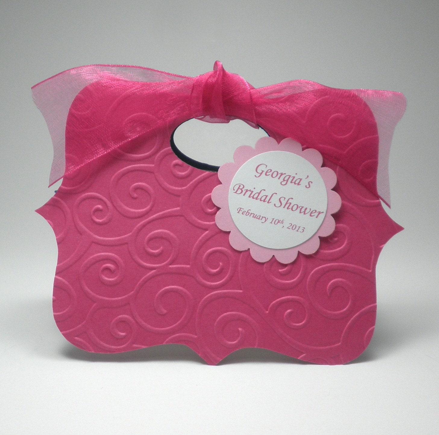 pink bridal shower gift bags 2 - 28 images - mini sheer organza tote ...