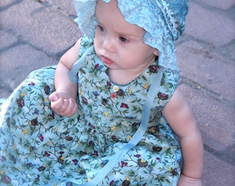 Silk velvet baby bonnet -- infant photo prop, baby hat, newborn, baby girl, baby clothes, baby girl gift, shower, soft baby hat, silk bonnet