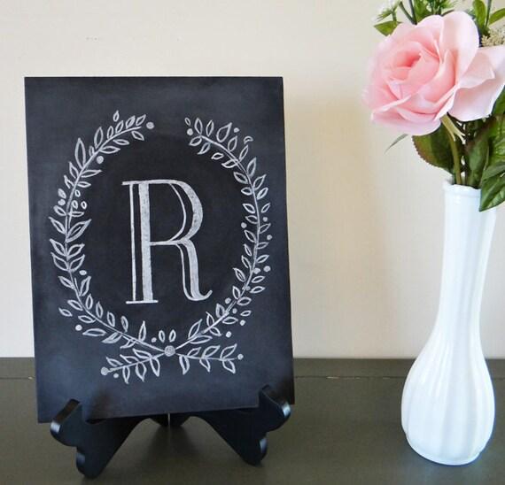 Custom Monogram Chalkboard - Monogrammed Gift - Monogram Wedding Gift - Monogram Sign