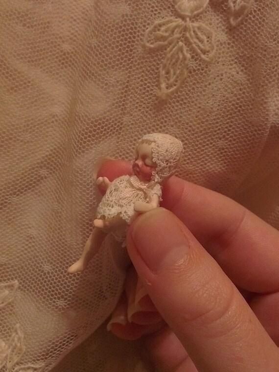 Porcelain Miniature ooak Baby Art Doll