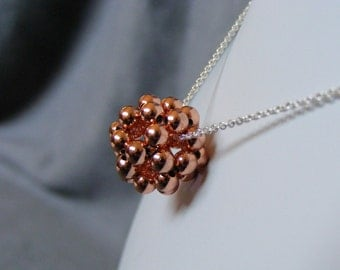 Copper Dodecahedron Necklace - Choice of Small or Large