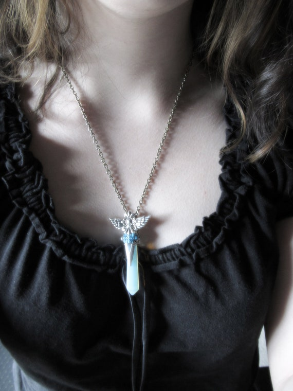 Valkyrie Crystal Opalite Fantasy Pendant One of a Kind