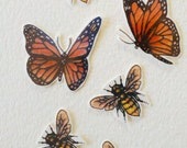 Temporary butterflies and bees tattoos