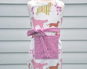 "Garson Jasper ""Preppy Pooches in Pink"" Kitchen and Craft Apron for Children, Mother's Day Gift"