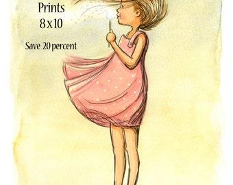 Children's Wall Art Prints - Any three 8 x 10 prints - SAVE 20 percent
