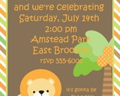 Little Lion Birthday Party Invitation