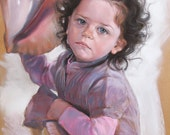 Custom pastel portrait. Portrait painting. Pastel portrait from your photography/ portrait paint by hand Art original /Birthday gift for her