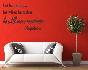 Wall Quotes Let him Sleep Vinyl Wall Decal Quote Removable Nursery Wall Sticker Home Decor (226)