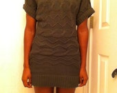Grey Knitted Sweater Dress