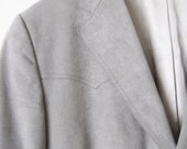 On Sale: grey suede vintage men's western style jacket coat 38