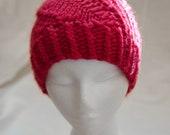 Spiral Hat / Red / Alpaca
