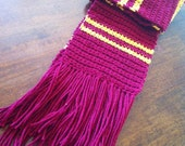 Harry Potter Gryffindor Crocheted Scarf