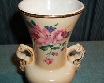 Spaulding China Company, Vintage Vase, Sebring Ohio, Floral Design