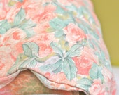 Vintage King Duvet Cover, Reversible, Shabby Chic Floral Bedding