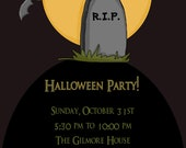Halloween RIP Party - Digital Invitatioin