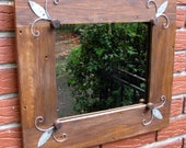 Recycled ,Reused, Repurposed, Upcycled,Reclaimed ,Rustic wall MIRROR  -  Nostalgic cottage  home decor