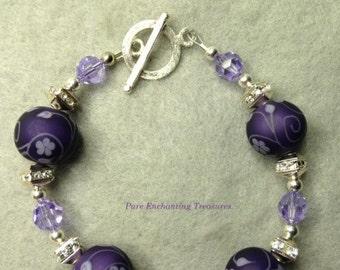Purple Passion Lampwork Bracelet