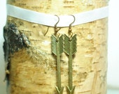 Antique Bronze Arrow Earrings