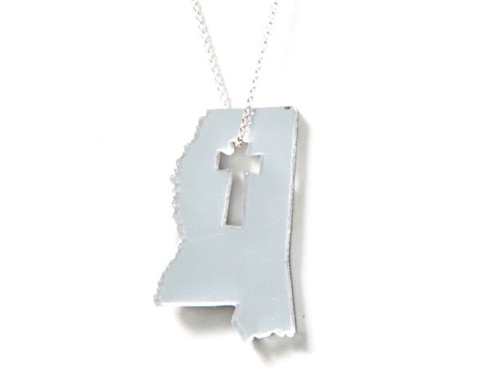 Mississippi Cross Necklace