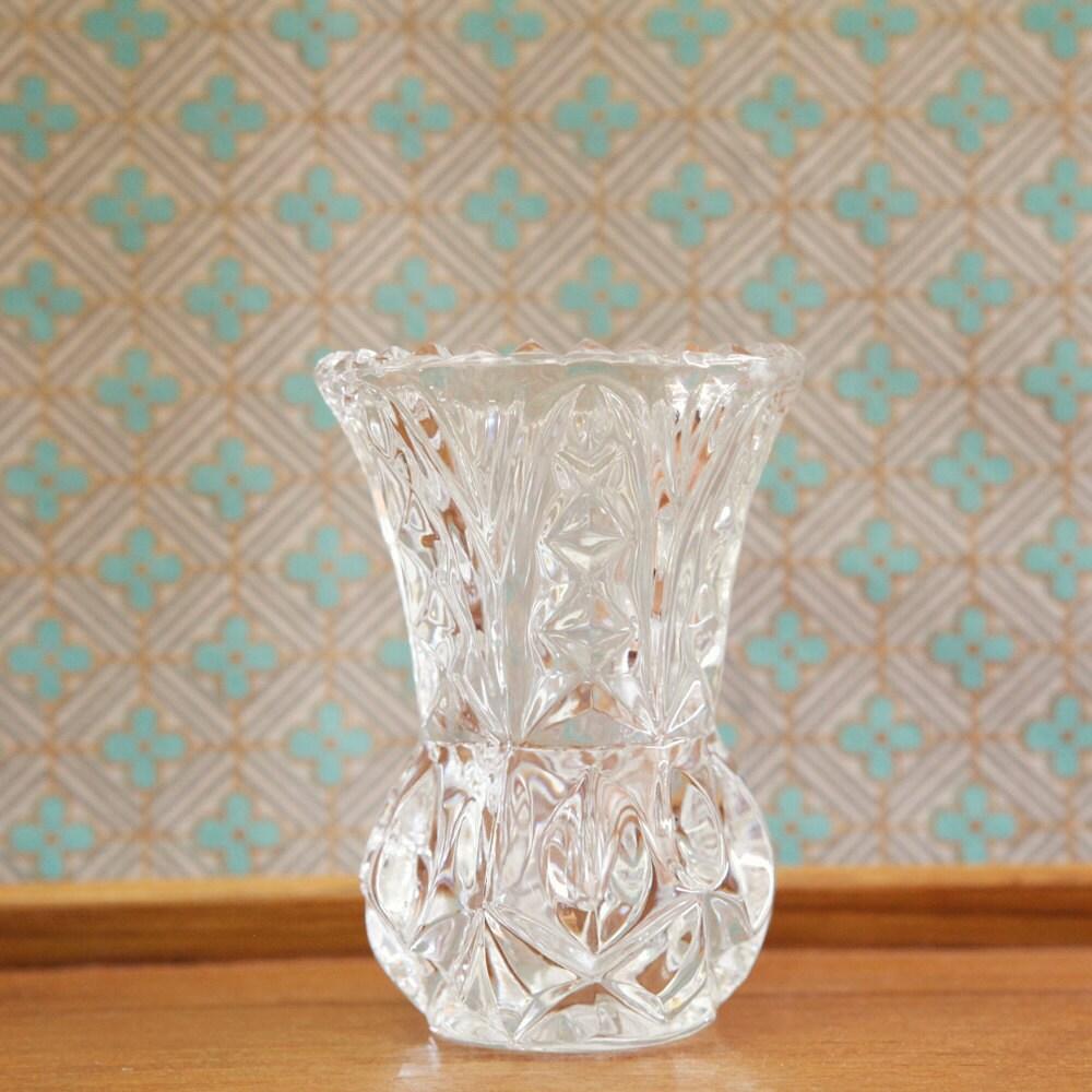 Lead Crystal Glass Small Mini Bud Vase Princess House Lead