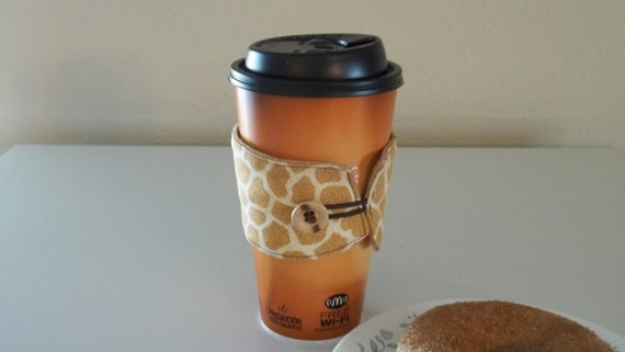 Giraffe Coffee Cozy