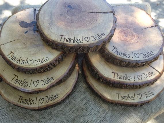 Holz-Käseplatte 9-12 cm Tabelle Hochzeit von theGypsybird auf Etsy