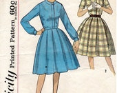 Simplicity 4617 Vintage Juniors' and Misses' Full Skirt Belted Dress Sewing Pattern - Size 16 Bust 36
