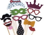Photo booth props / Wedding photo booth prop set / Birthday photo booth set / Any occasion photo prop set
